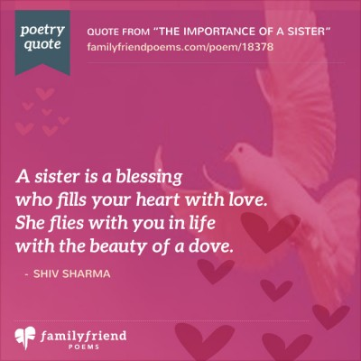 Why I Love My Sister Poem The Importance Of A Sister