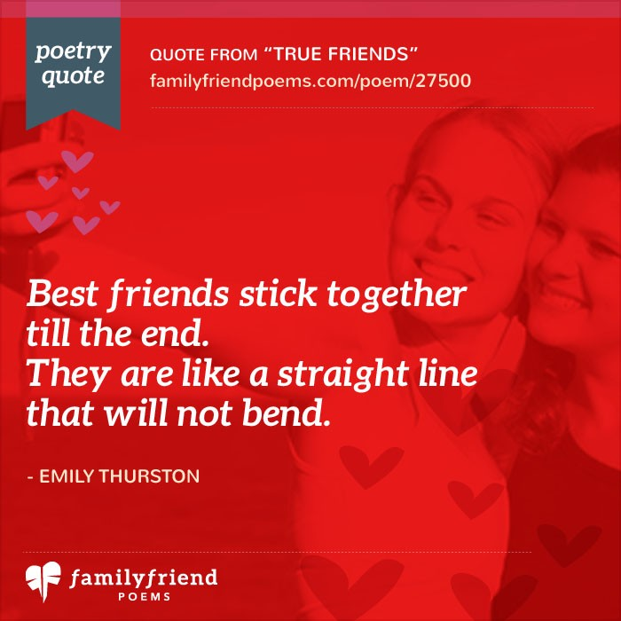 True Friends Short Friendship Poem