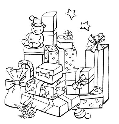 christmas present coloring pages # 35