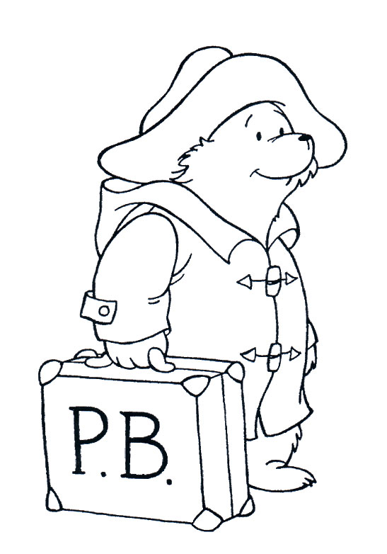 paddington bear coloring pages # 0
