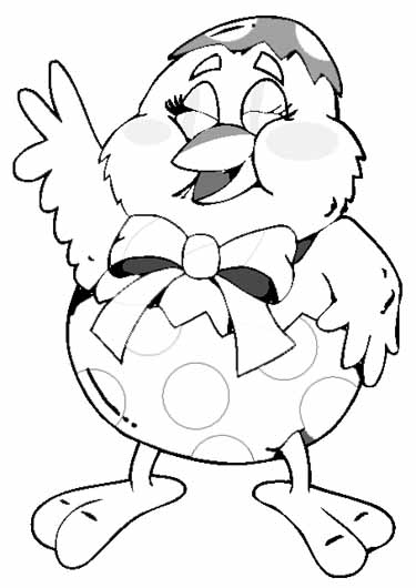 Fun Easter Coloring Pages Cute Chick Coloring Page