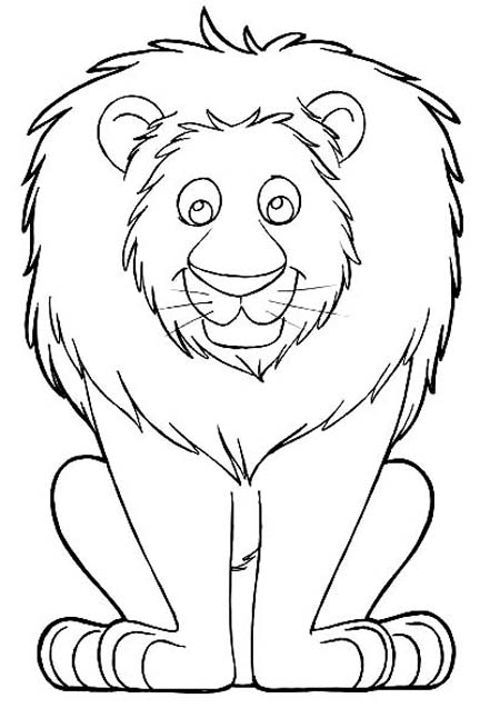 Fun With Lion Coloring Pages