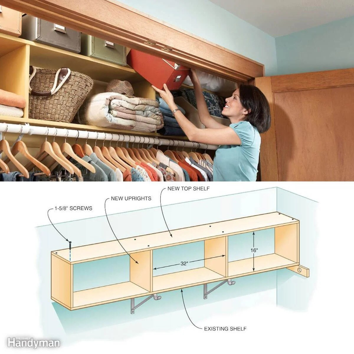Ways To Squeeze More Storage Out Of Small Spaces Family Handyman