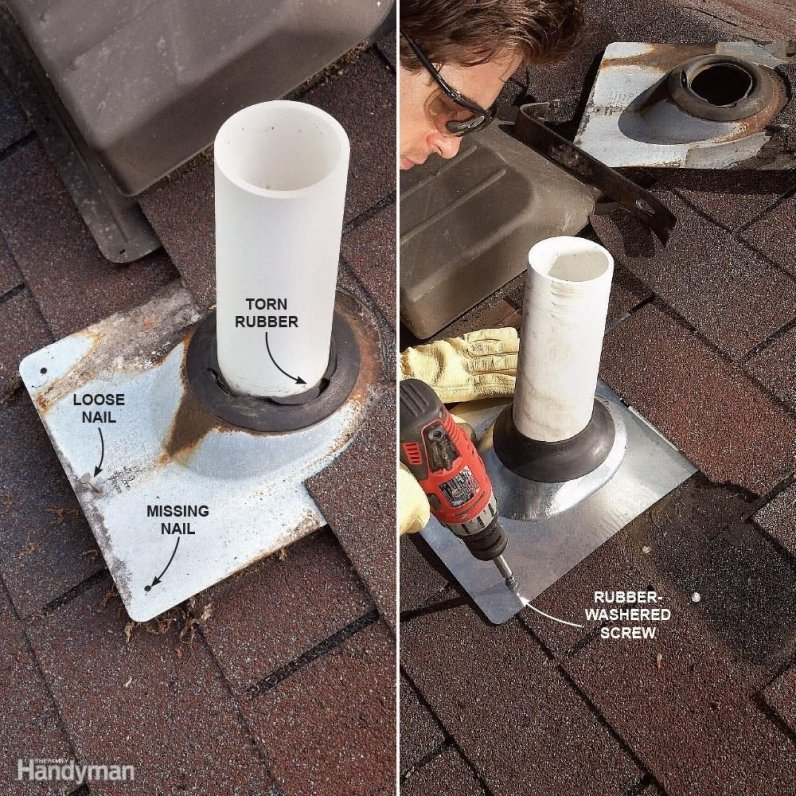 Fix Plumbing Vent Boots  12 Roof Repair Tips: Find and Fix a Leaking Roof FH09JAU FIXROO 04 05