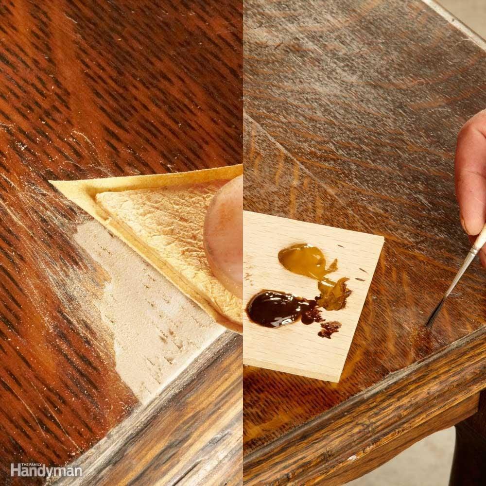Nail Polish Remover On Wood Finish