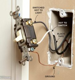 wiring a switch and outlet the safe and easy way family handyman electrical wiring plugs and switches electrical wiring switches [ 1000 x 1000 Pixel ]