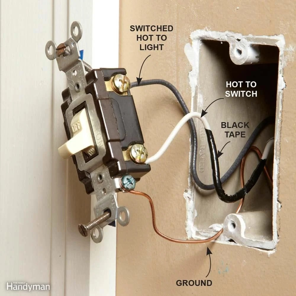 hight resolution of wiring a switch and outlet the safe and easy way family handyman home wiring light switch red wire home wiring light switch