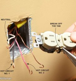 wiring a switch and outlet the safe and easy way family handymanmatch the breakaway tab to [ 1000 x 1000 Pixel ]