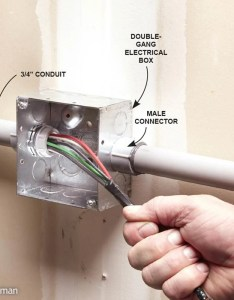 Use larger pvc conduit and electrical boxes also installing the family handyman rh familyhandyman