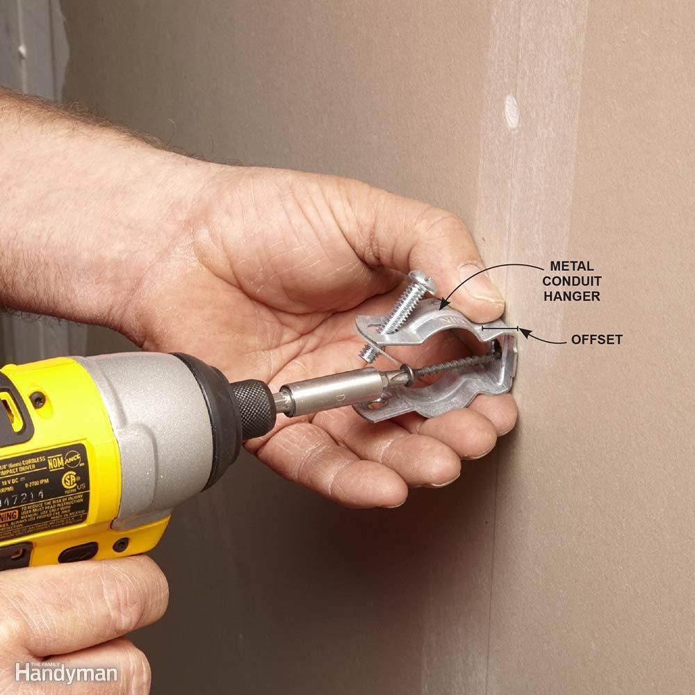 medium resolution of use metal hangers with pvc conduit