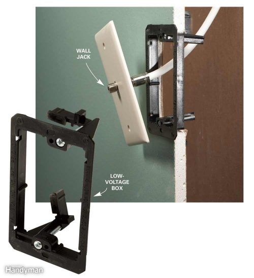 small resolution of install cable outlet don t use standard electrical boxes