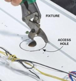 add fluorescent lights cut an access hole [ 1200 x 1200 Pixel ]