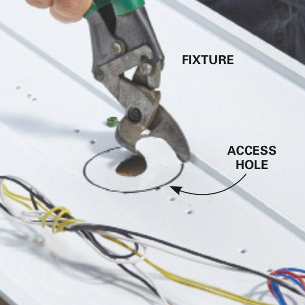 medium resolution of add fluorescent lights cut an access hole