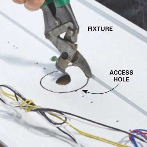 small resolution of add fluorescent lights cut an access hole