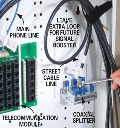 splitter box wiring wiring diagram used installing communication wiring family handyman splitter box wiring [ 1200 x 1200 Pixel ]