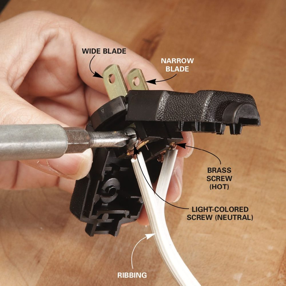 medium resolution of twist the strands of wire tight then fasten them into the replacement plug with the neutral on