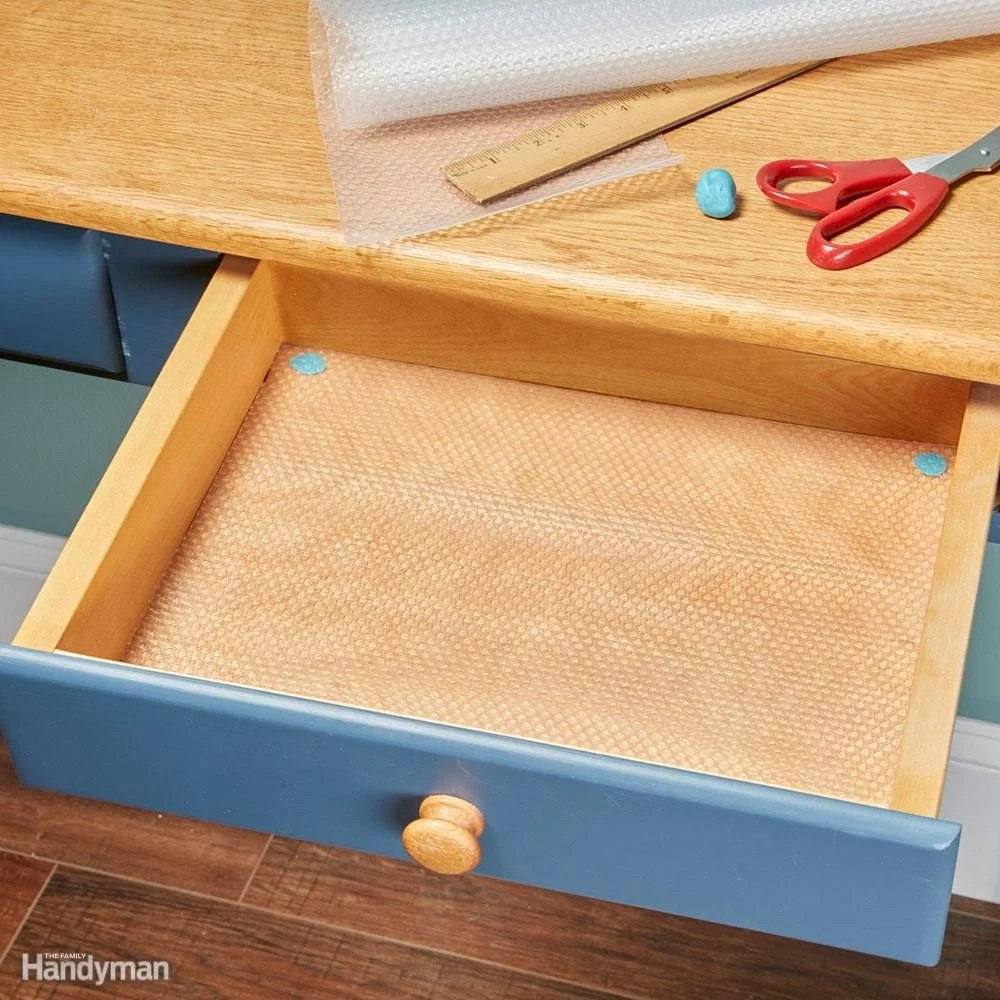 How to Line Drawers and Cabinets with Shelf Liners  The