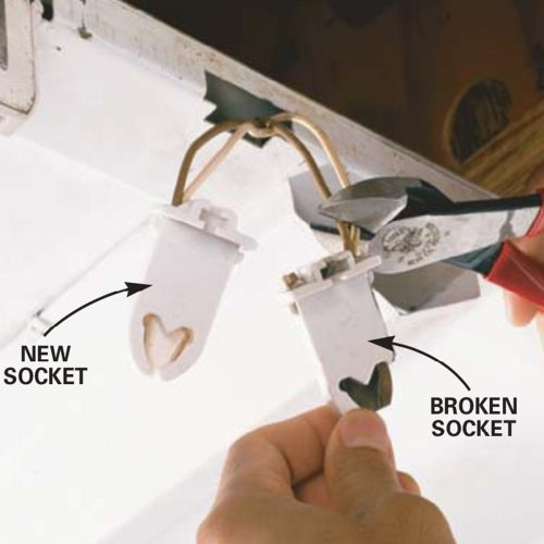 small resolution of how to replace a fluorescent light bulb family handyman wiring fluorescent light sockets