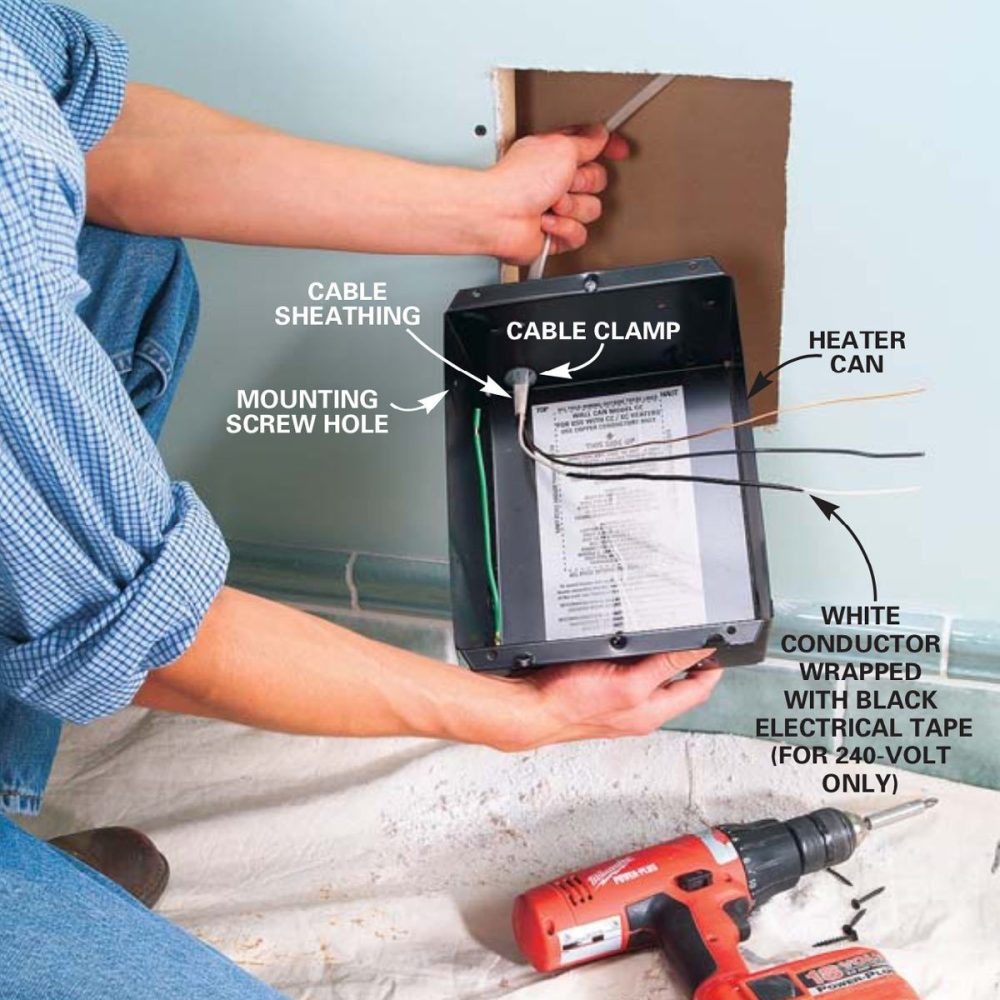 medium resolution of wire the heater