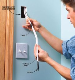 installing electric heaters family handyman electric wall heater thermostat wiring [ 1200 x 1200 Pixel ]