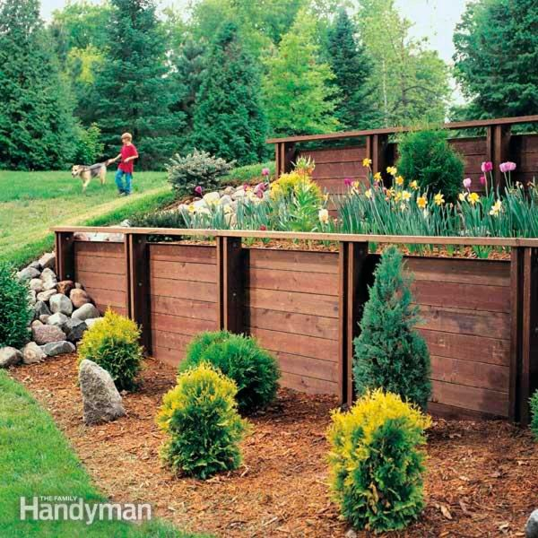 build treated wood retaining
