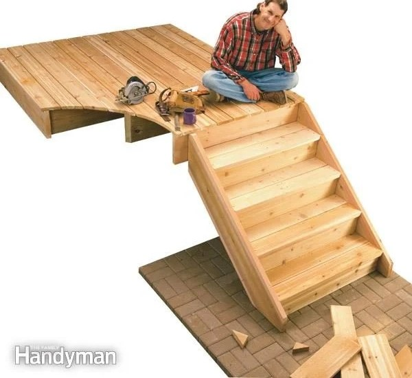How To Build Deck Stairs The Family Handyman | Pre Built Wooden Steps | Oak | Exterior | Pre Built | Box | Prefabricated