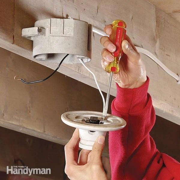 wiring diagram of refrigerator 3 speed electric motor how to replace a pull-chain light fixture | the family handyman