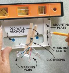 install the mounting plate mount new thermostat [ 1200 x 1200 Pixel ]