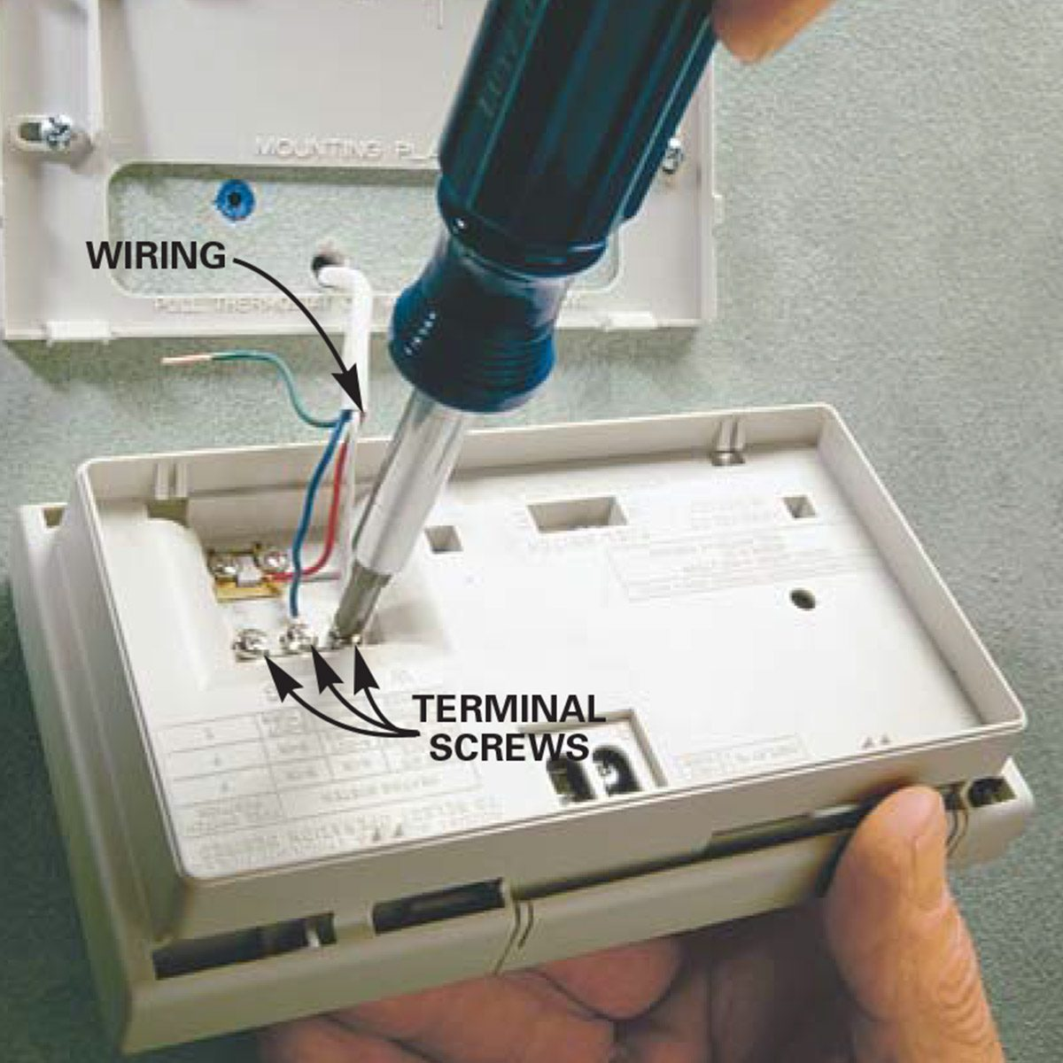 hight resolution of install new thermostat