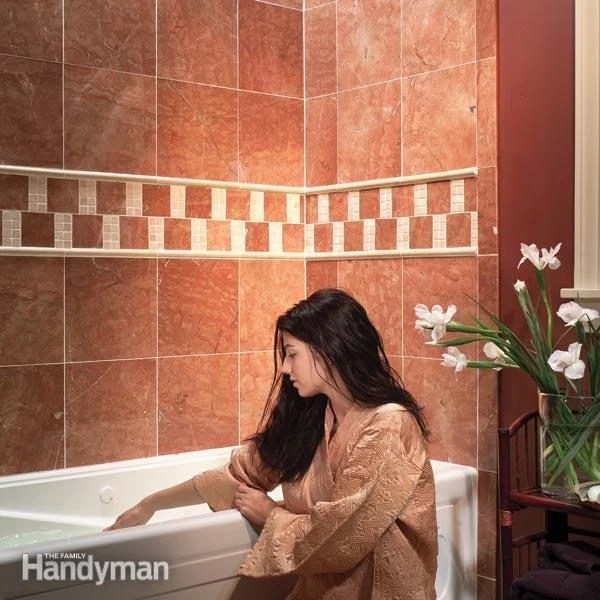 how to install natural stone tile diy