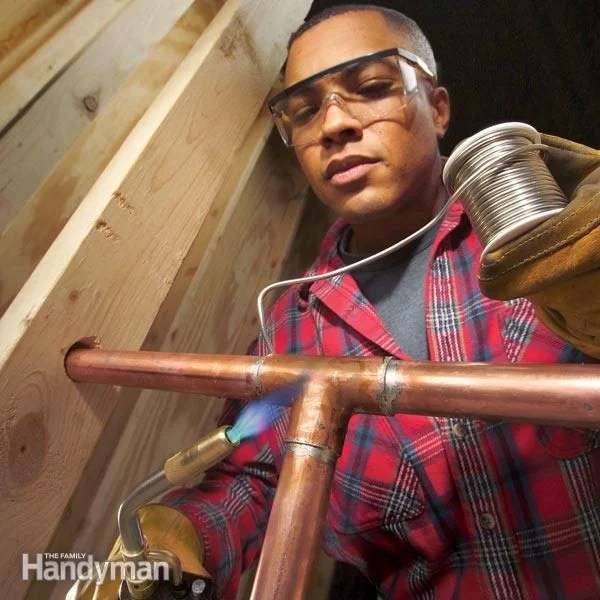 How To Solder Copper Pipe Joints The Family Handyman