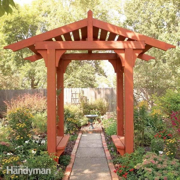 10 Awesome Garden Arbor And Trellis Projects The Family Handyman