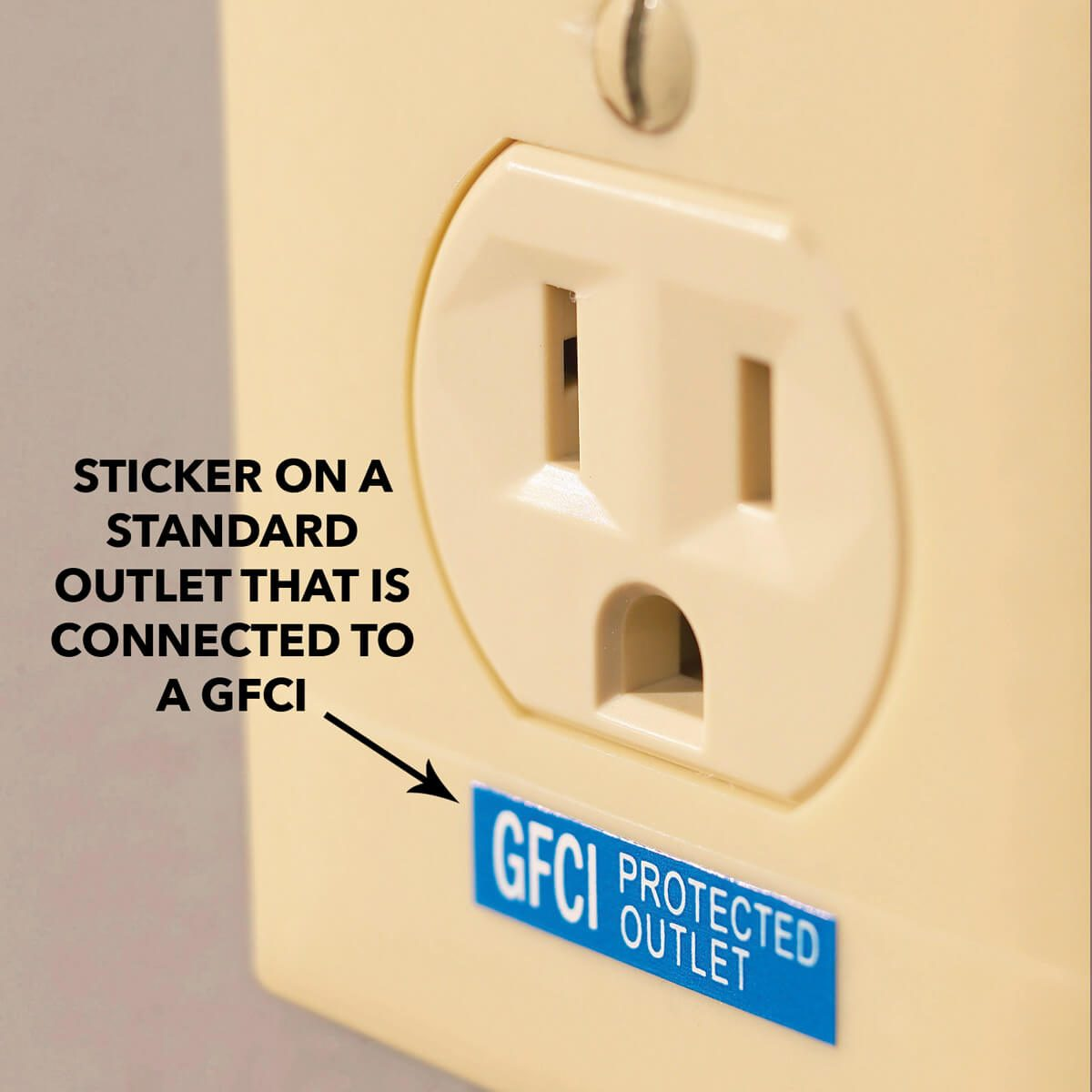 hight resolution of gfci outlet reset button test button