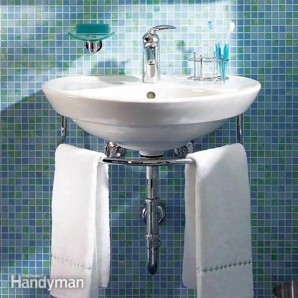bathroom sink wall hung sink diy