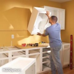 Diy Kitchen Cabinet Full Cabinets The Family Handyman How To Install