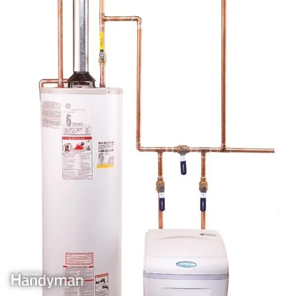 hard start capacitor wiring diagram hampton bay ceiling fans how to plumb a water softener the family handyman installation install
