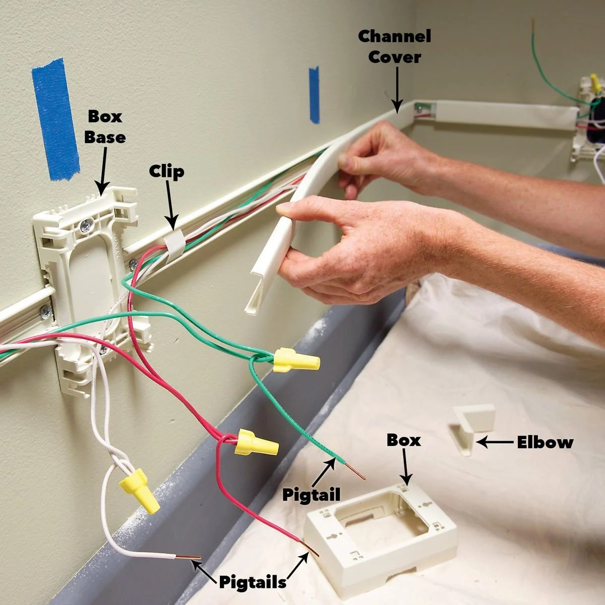 hight resolution of how to add outlets easily with surface wiring install the wiring