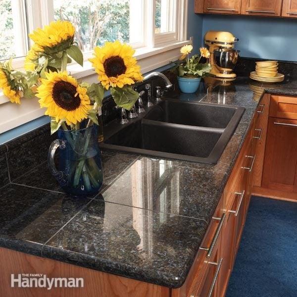 Granite Countertops How to Install Granite Tile  The Family Handyman