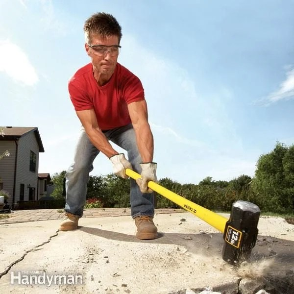 concrete demolition tools and tips diy