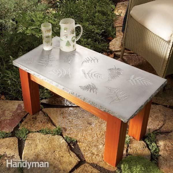 build your own concrete table diy