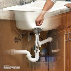 Kitchen Sink Drain Design Cabinets Unclog A The Family Handyman