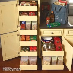 Kitchen Cabinets Stores Awesome Storage Cabinet Rollouts The Family Handyman