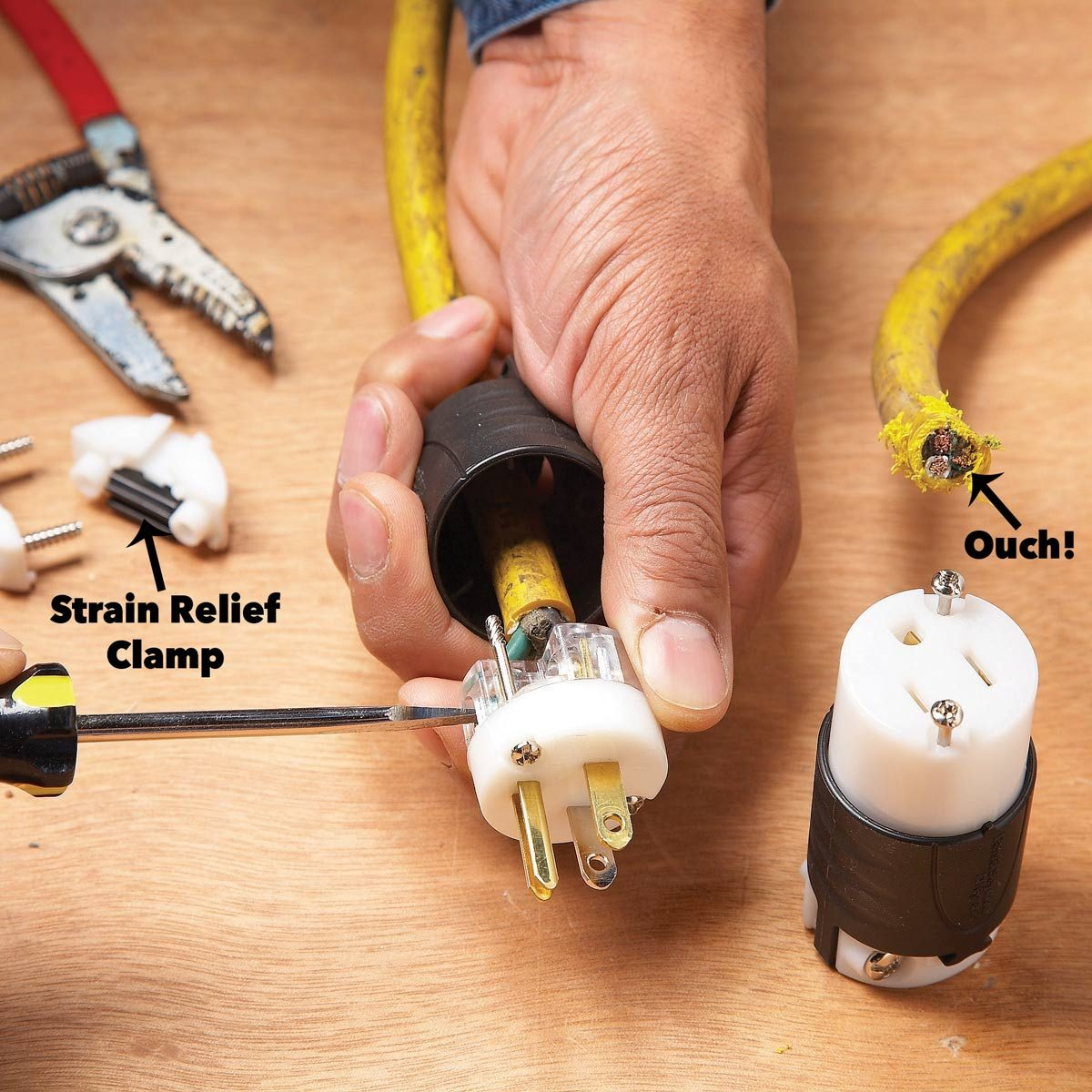 hight resolution of extension cord repair