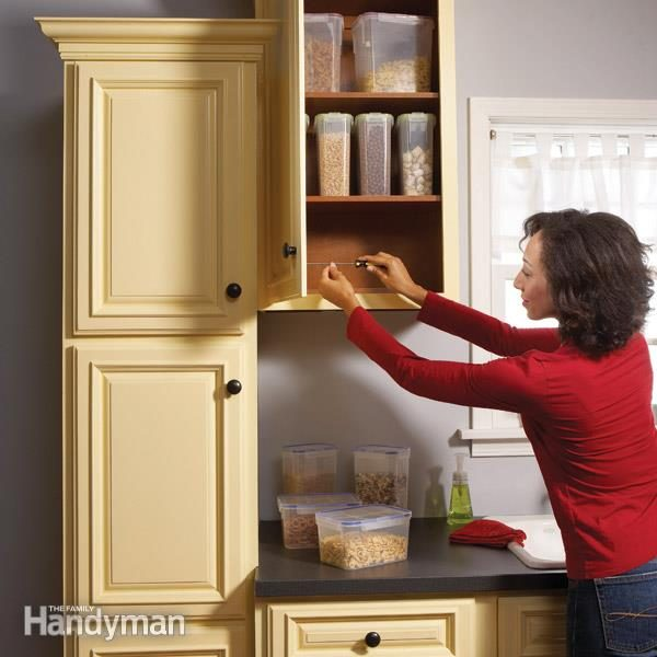 repair kitchen cabinets corner top cabinet home how to fix the family handyman fh10mar cabrep 01 2