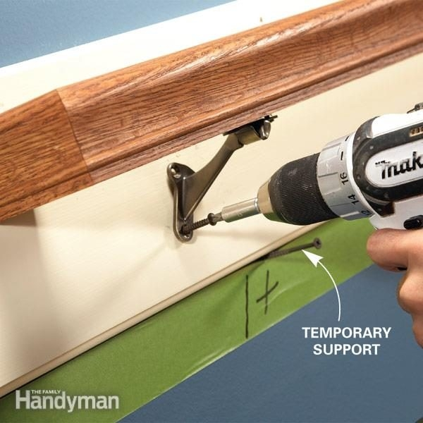 How To Fix Loose Stair Handrails | Attaching Handrail To Wall | Stair Parts | Brick | Wood | Staircase | Scr*W