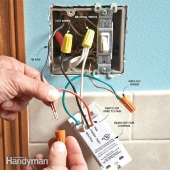 two gang light switch wiring diagram well pump motor how to install a dimmer the family handyman prevent mold with dewstop fan