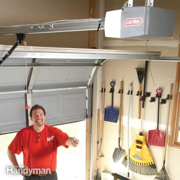 roller garage door wiring diagram sun elevation how to install a replacement opener family handyman installation