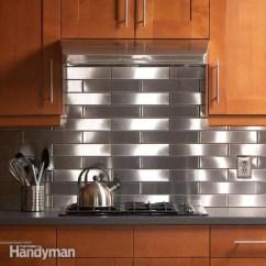 Stainless Steel Kitchen Floating Island Backsplash The Family Handyman