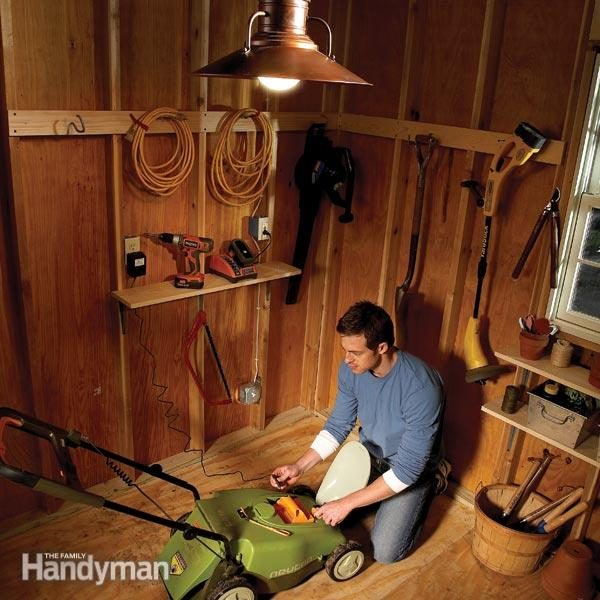 wiring diagram house to shed inline fuse electrical wiring: how run power anywhere | the family handyman