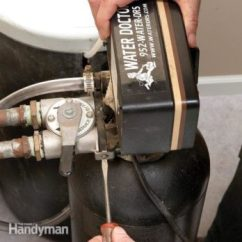 Hard Start Capacitor Wiring Diagram 240v Baseboard Heater How To Plumb A Water Softener The Family Handyman Replace Resin Bed